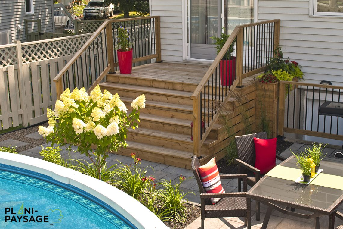 Am nagement ext rieur avec piscine hors terre for Patio exterieur arriere