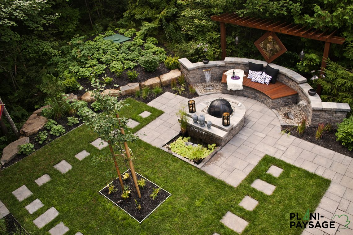 Pas japonais contemporain d 39 un jardin de repos et de m ditation - Castorama jardin pas japonais angers ...