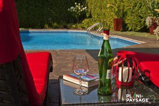 Exemples de r alisations d 39 am nagements paysagers plani for Amenagement exterieur piscine creusee