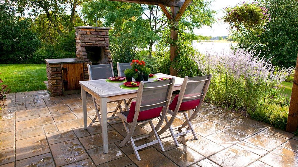 foyer ext rieur au bois sur patio plani paysage. Black Bedroom Furniture Sets. Home Design Ideas