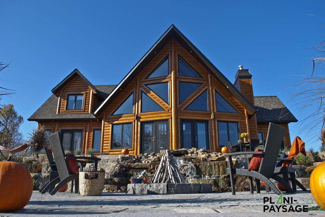 am nagement ext rieur d 39 une maison timber block plani paysage. Black Bedroom Furniture Sets. Home Design Ideas
