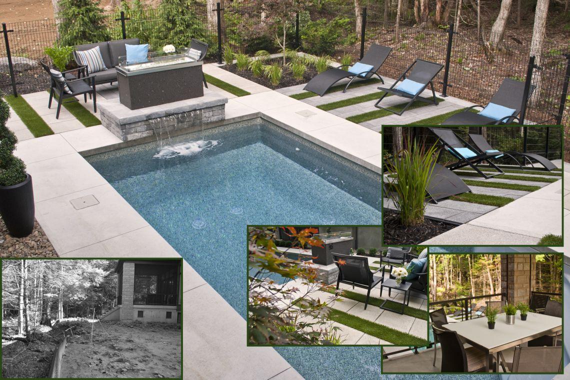 m tamorphose d 39 une cour arri re de blainville plani paysage. Black Bedroom Furniture Sets. Home Design Ideas