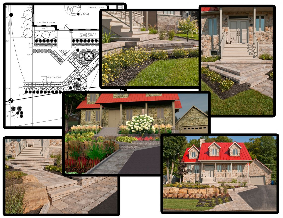Aménagement Extérieur Maison Terrain En Pente aménagement d'une façade en pente - plani-paysage