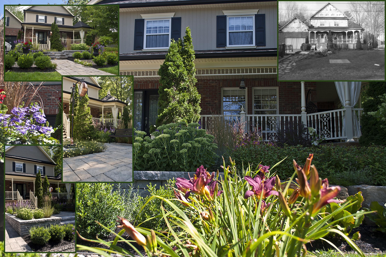 Aménagement Extérieur Maison Terrain En Pente le coût d'un aménagement de façade - plani-paysage